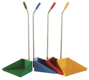 T718275 Dustpan with handle coloured (Pack of 12 pieces)