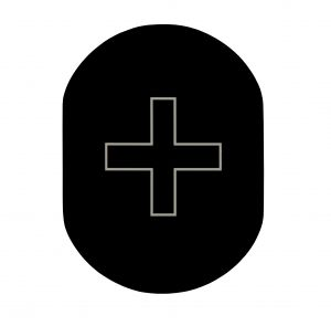 T709901 Placa pictograma aluminio negro Enfermeria
