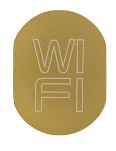T709901 Placa pictograma aluminio dorado WI FI