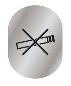 T719957 No smoking pictogram Brushed aluminium