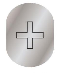 T709901 Placa pictograma aluminio satinado Enfermeria