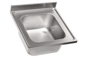 LV7003 Top lavello in acciaio inox AISI 304 dim.700X700 1 vasca 600x500