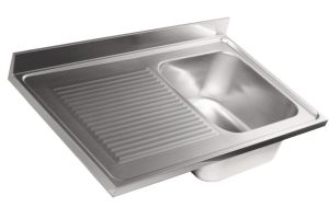 LV7009 Top sink Aisi304 stainless steel sink dim.1000X700 1 bowl 1 drainer left