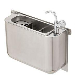 LVPCAR Rince-cuillers inox carénée avec robinet