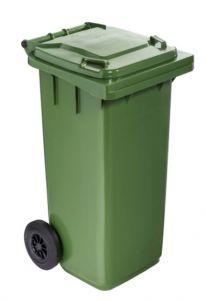 T766613 Contenitore rifiuti da esterno 2 ruote 120 litri colore VERDE
