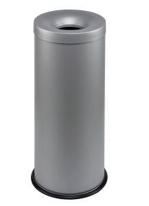 T770032 Corbeille anti-feu métal gris 30 litres