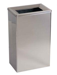 T773001 Stainless steel waste bin for bathroom with internal bucket 25 liters
