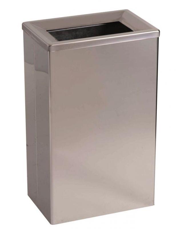 Contenitore rifiuti per bagno in acciaio inox rettangolare for Satinato significato
