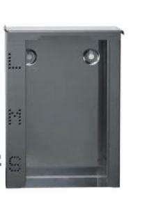 T773022 Distributore in acciaio inox AISI 304 triplo di guanti con coperchio