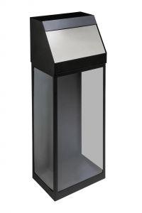 T774057 Transparent waste bin Push opening 50 liters