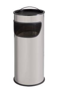 T775012 Portacenere-gettacarte 25 litri metallo grigio con sabbia inclusa