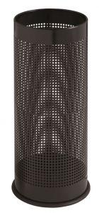 T775111 Black perforated steel umbrella stand