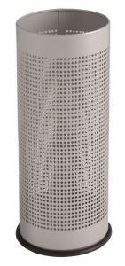 T775112 Porte-parapluie cylindrique perforé en metal gris