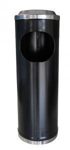 T790113 Black steel  Ashbin 11 liters