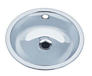 LX1120 Circular stainless steel wash basin decentralized 290x330x143 mm - LUCIDO -