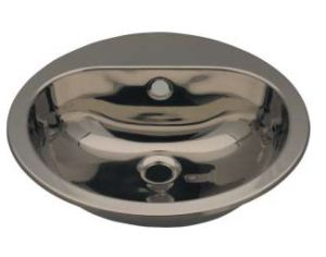 LX1230 Lavabo circulaire avec trou pour robinet en acier inoxydable 414x490x160 mm - LUCIDO -