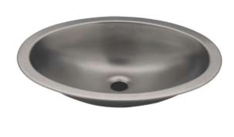 Lx1280 lavabo ovale in acciaio inox 510x390x155 mm lucido for Satinato significato