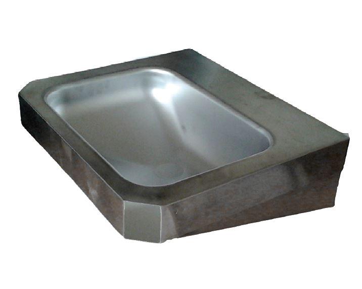 Lx lavabo rettangolare u cchigiu dcon mensole in acciaio inox