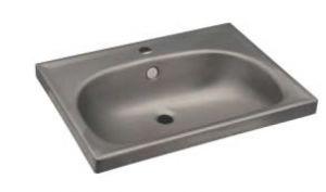 LX1370 Rectangular washbasin for stainless steel shelves 610x463X150 mm -LUCIDO-