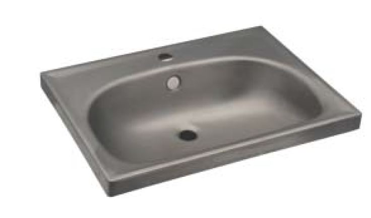 Lx1370 lavabo rettangolare per mensole in acciaio inox for Satinato significato