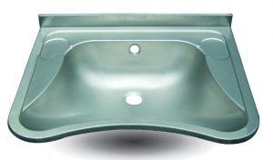 """LX1490 Lavabo """"Lucy"""" per disabili in acciaio inox 650x540x156 mm - SATINATO-"""