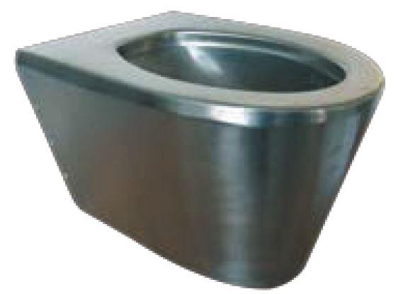 Lx3100 wc sospeso scheraton in acciaio inox 550x350x340 for Satinato significato