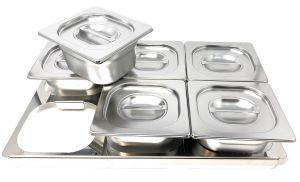 TIMGS16 Telaio divisorio Gastronorm 1/1 inox per 6 contenitori GN 1/6