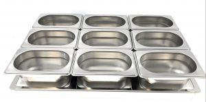 TIMGS19 adaptateur partition Gastronorm 1/1 cadre en acier inoxydable pour 9 conteneurs GN 1/9