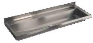 LX1730 Canalone en el plegado 1250x400x122  mm AISI 304 mm AISI 304 - SATÉN