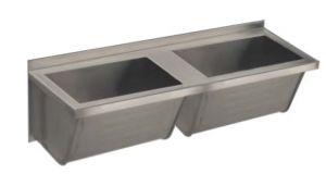 LX1830 Lavapanni doppia vasca in acciaio inox  AISI 304 dim.1400x500x350 mm