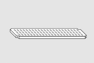78004.12 Ripiano forato per scaffale serie standard cm 120x40x4h