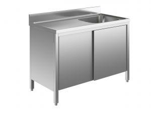 EU01602-14 lavatoio armadio ECO cm 140x60x85h  1 vasca e sg sx - porte scorrevoli