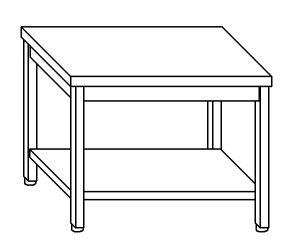 TL5060 Tavolo da lavoro in acciaio inox AISI 304 ripiano 160x60x85