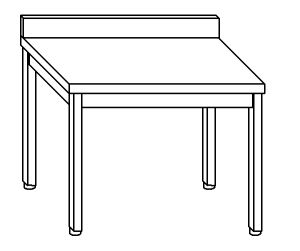 TL5099 Tavolo da lavoro in acciaio inox AISI 304 alzatina 70x60x85
