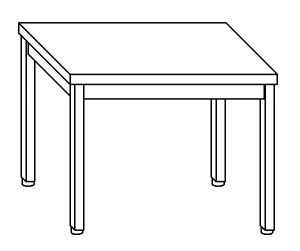 TL5201 Tavolo da lavoro in acciaio inox AISI 304 130x70x85