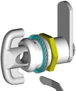 "IN-33C Padlockable cylinder for ""IN"" series cabinets"