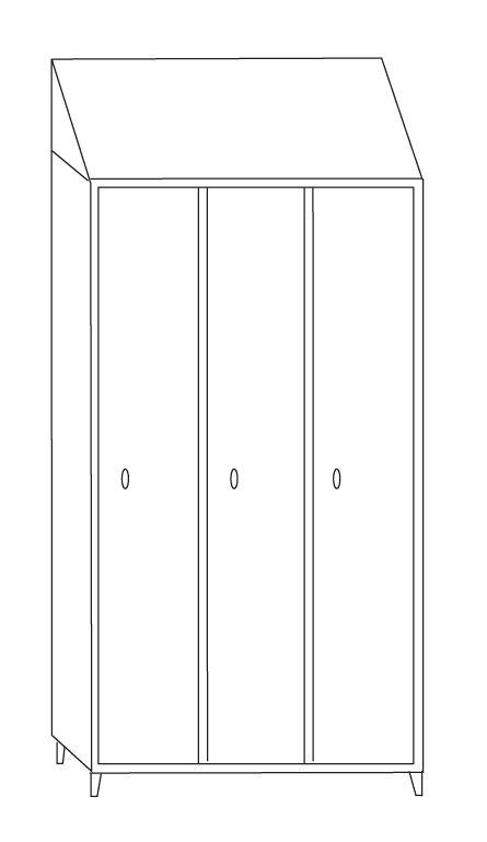 Dimensioni Armadietti Per Spogliatoi.Armadietto Spogliatoio In Acciaio Inox Aisi 304 A 3 Posti Con