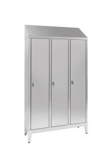IN-S50.694.00.430 Armoire 3 portes 3 portes Aisi 430 en acier inoxydable avec cloison sale / propre Cm. 120X50X215H