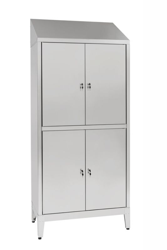 Multi-storey cupboard in stainless steel Aisi 430 4-seater 4-door ...