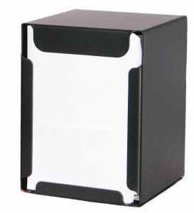 ITP1315N Table napkin and desk napkin NERO - folded napkins 17x17 cm