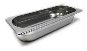 GST2 / 8P65 Gastronorm container 2/8 h65 in stainless steel AISI 304