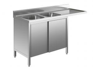 EU01911-18 lavatoio armadio per lavast. ECO cm 180x60x85h  2v e sg dx - porte scorrevoli
