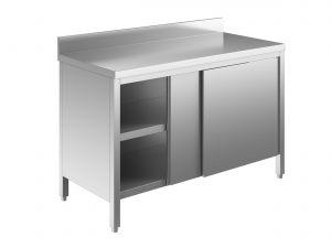 EU03201-18 tavolo armadio ECO cm 180x60x85h  piano alzatina - porte scorrevoli