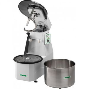 18CNSM Spiral kneader Liftable head 18 kg cicle dough 22 liters removable tank - Single phase
