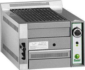 B50 Gril a pierre lavique a gaz avec gril de cuisson en fonte emailee