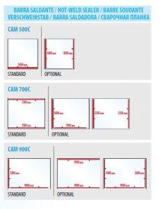 Barre de soudure supplémentaire pour les modèles CAM500C-700C-900C
