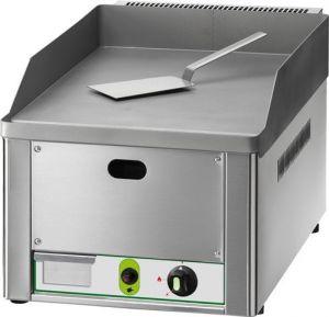 FRY1LM Fry top a gas da banco piano singolo liscio acciaio sabbiato