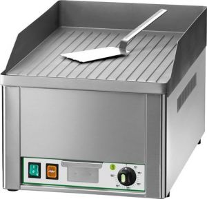 FRY1RC Electric Fry top single lined chromed steel surface 3000W single phase