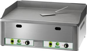 FRY2LMC Gas Fry top double smooth chromed steel surface