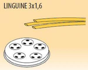 MPFTL3X16-15 Brass bronze alloy nozzles  LINGUINE 3x1,6 for pasta machine